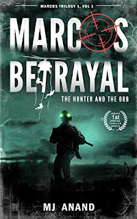 Marcos Betrayal, a fast paced marine thriller book promotion sites MJ Anand