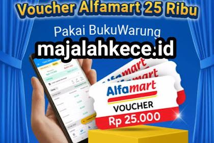 Cara Mendapatkan Voucher Alfamart 25ribu Dari BukuWarung