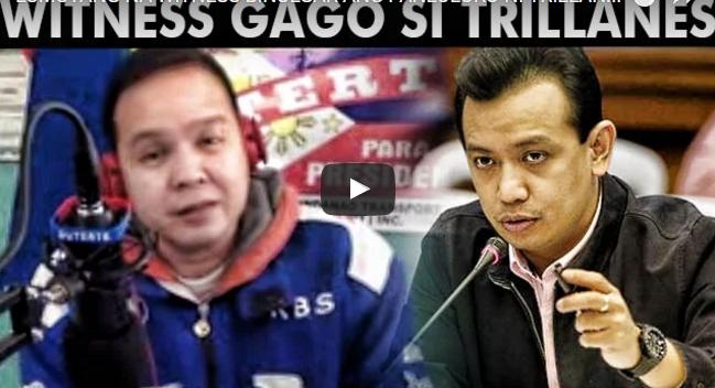 Lumutang Na Witness Binulgar Ang Panloloko Ni Trillanes Sa Taong Bayan