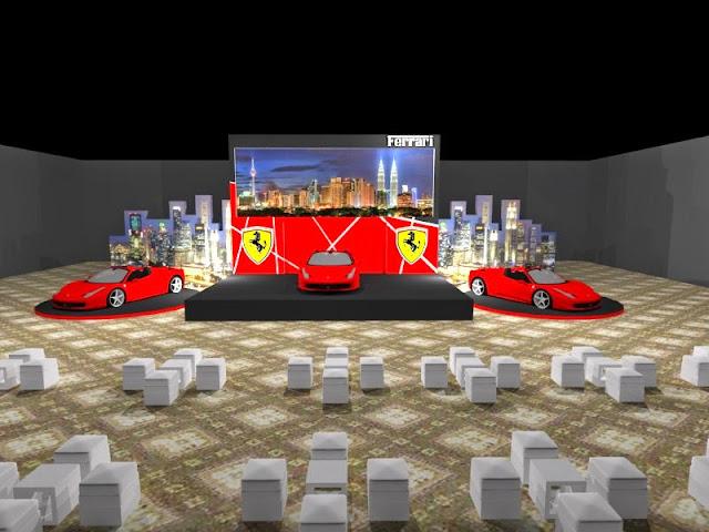 kontraktor pameran Konsep Design Booth Ferrari