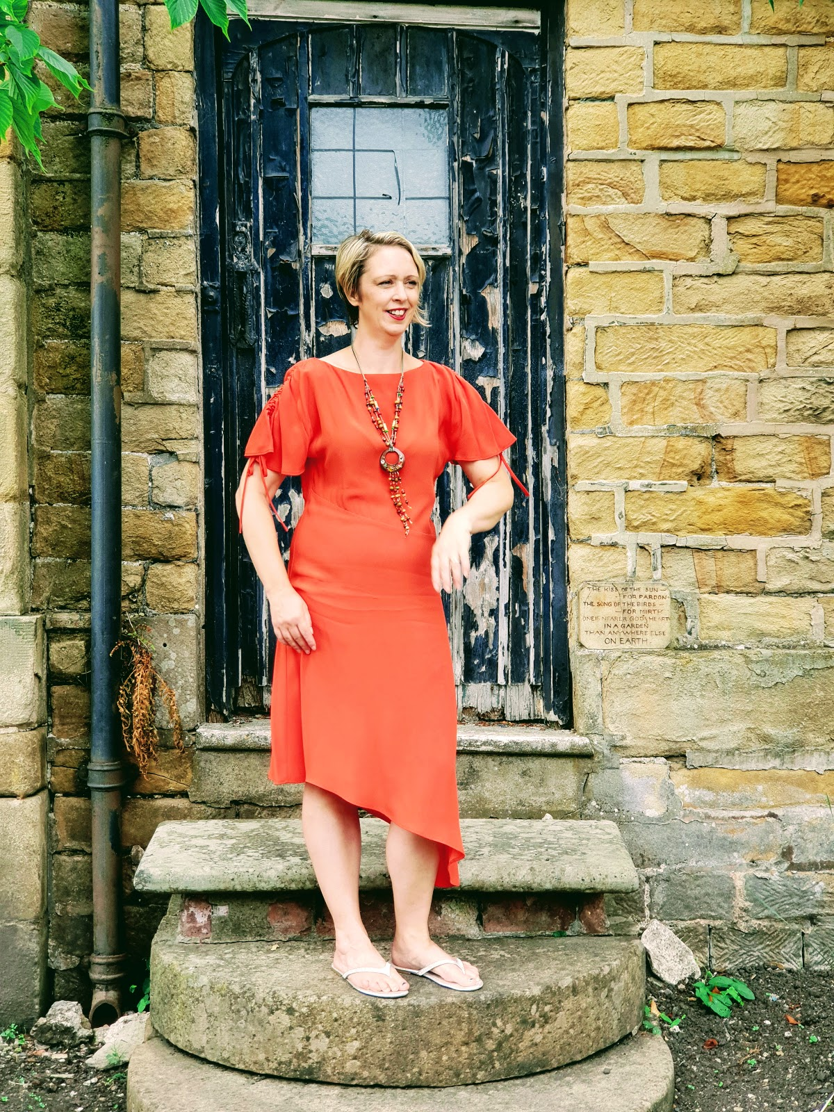 My Favourite Orange Dress: Over 40 Style