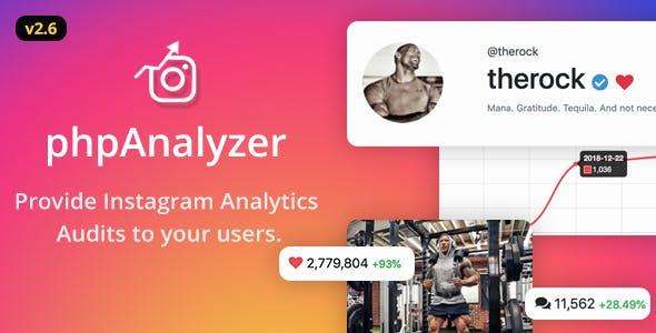 phpAnalyzer v2.6.2 - Instagram Analytics / Audit / Statistics Tool