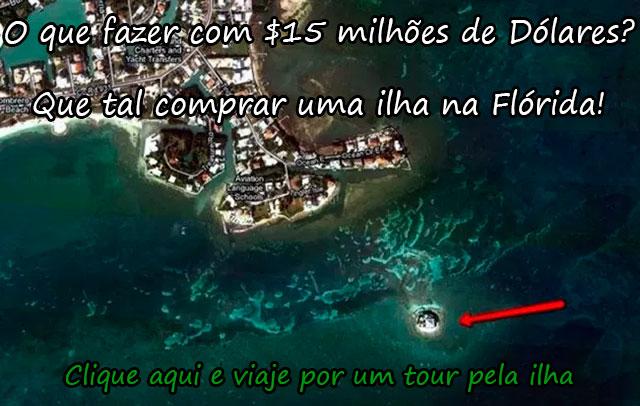 O QUE FAZER COM $15 MILHÕES DE DÓLARES? QUE TAL COMPRAR UMA ILHA NA FLÓRIDA!