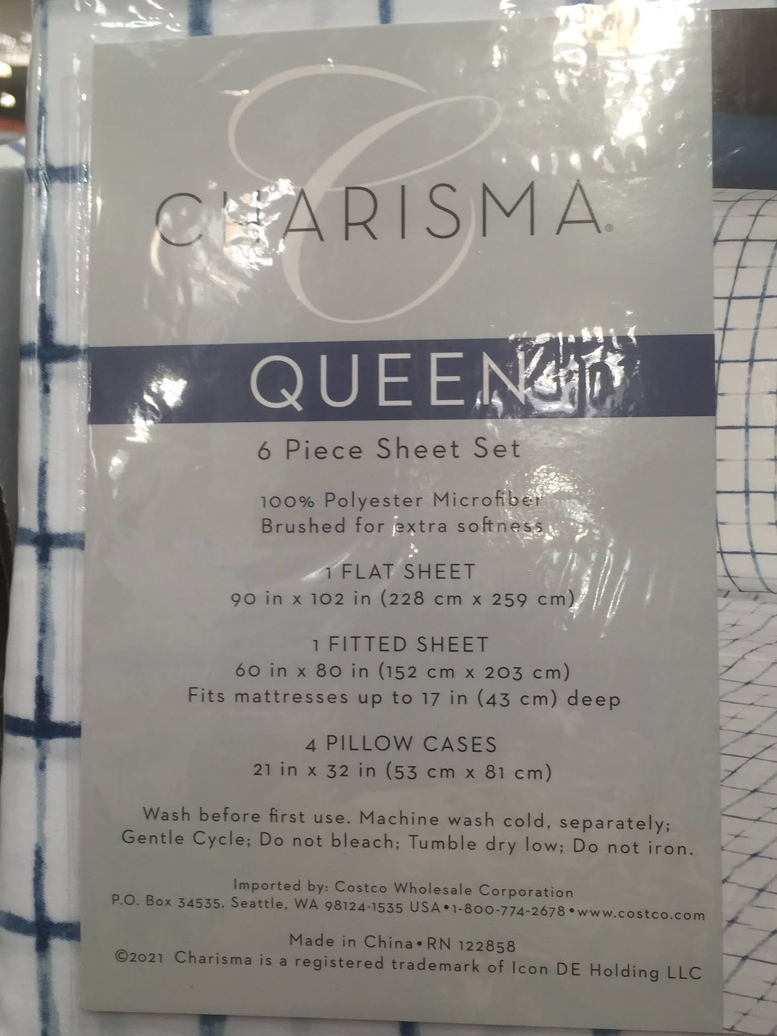 Costco 1463837 - Charisma 6-piece Microfiber Sheet Set: great for any queen size bed