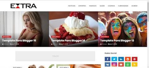 Tema Extra Blogger Para Blog E Portal De Notícias