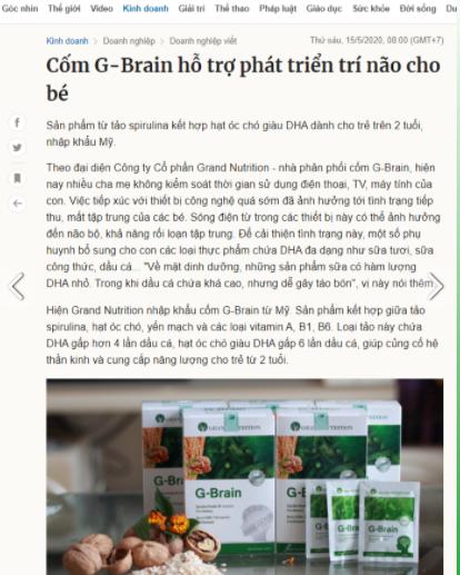 com tri nao Gbrain review tu bao chi