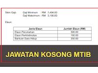 Jawatan Kosong di Lembaga Perindustrian Kayu Malaysia (MTIB)