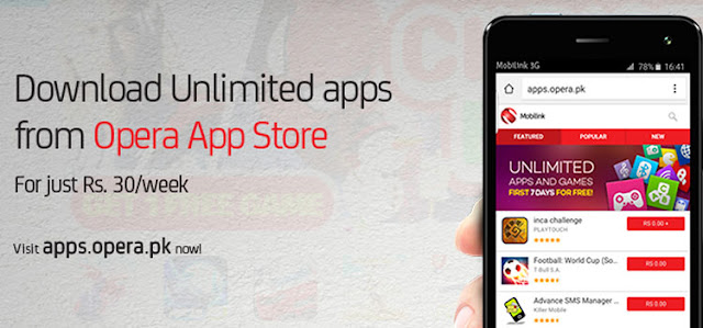 Mobilink Launches Opera App Store with Premium Apps for its Customers