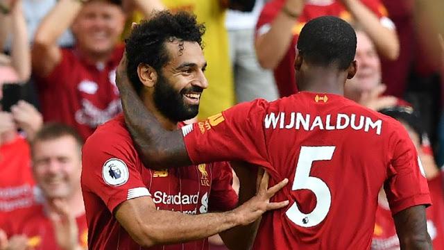 Mohamed Salah Wijnaldum Liverpool FC