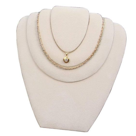 #CD-6723Q Suede Necklace Easel Display