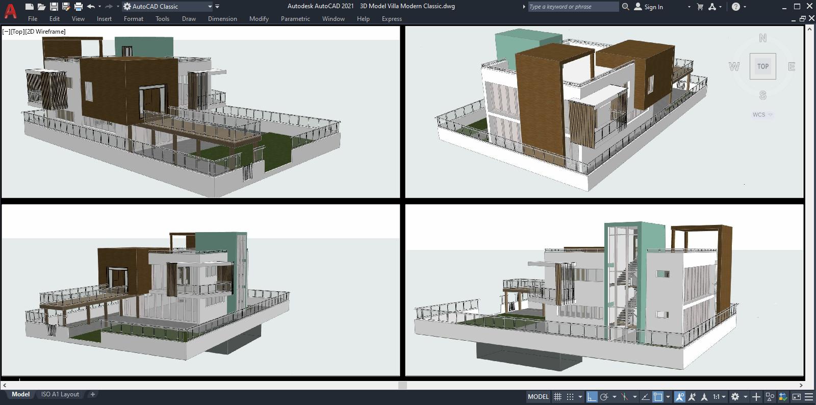 3D Model Villa Modern Classic