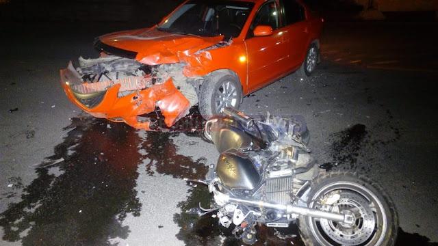 Очередная авария в Уфе с участием мотоцикла