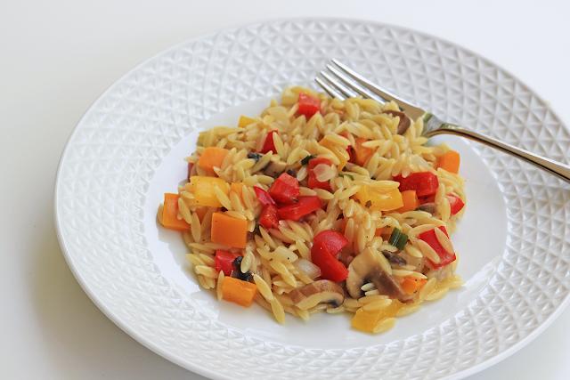 Καλοκαιρινό Κριθαρότο με Λαχανικά