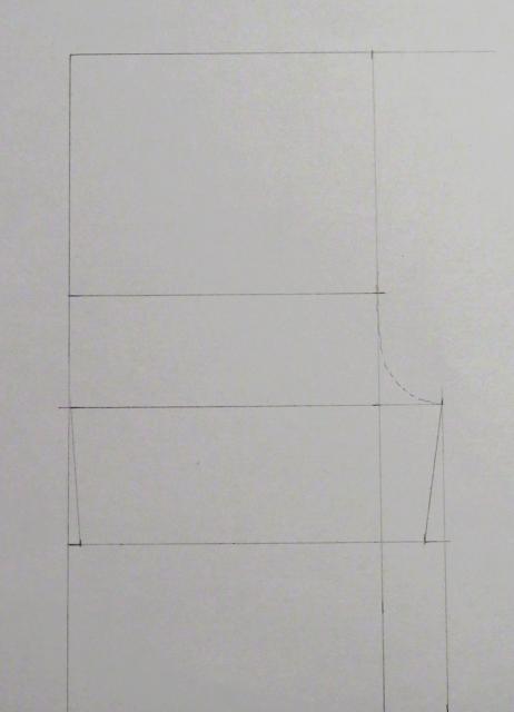 Uso del patrón short delantero para hacer el trasero