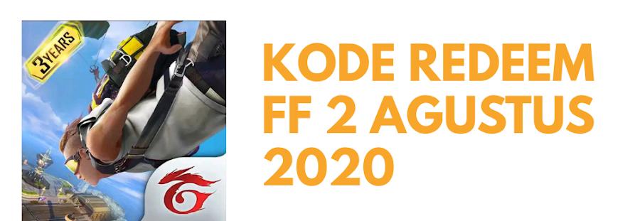 3 Kode Redeem FF 2 Agustus 2020 Resmi Dari Garena, Buruan Cek!