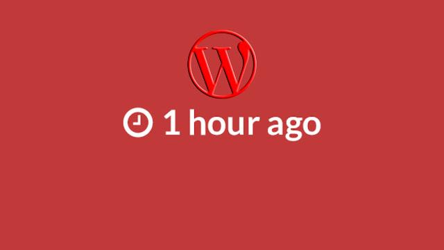 wordpress x zaman önce yazıldı