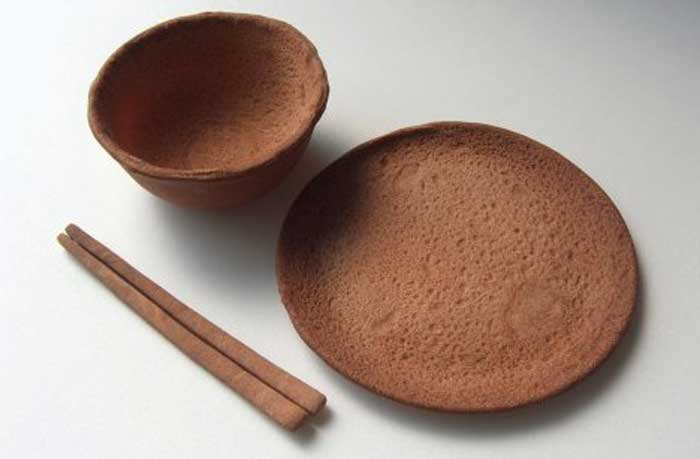 Dinnerware out of wheat