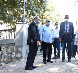 محافظ الشرقية يتفقد أعمال تنفيذ المرحلة الثالثة للمشي السياحي بمدينة الزقازيق