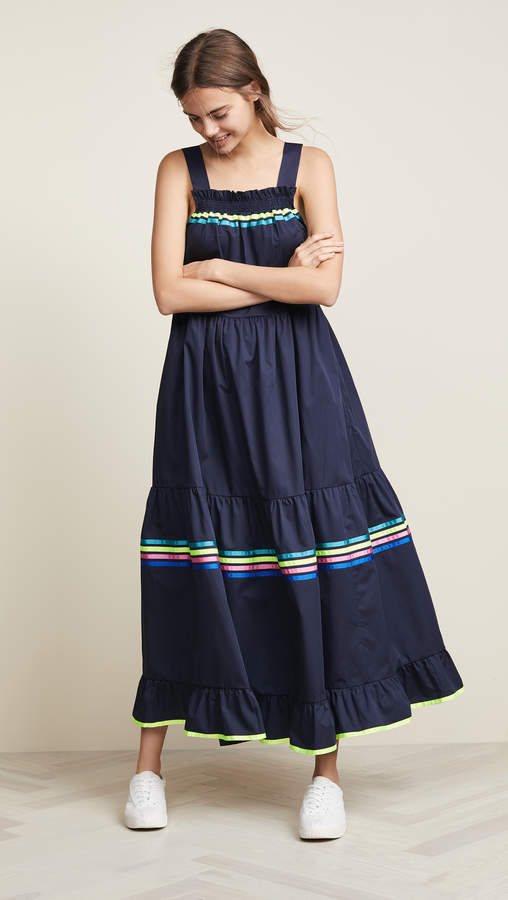 Mira Mikati Tie Shoulder Dress