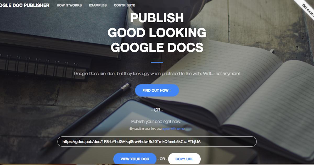 把 Google Docs 文件直接發佈成好看不跑版的公開網頁
