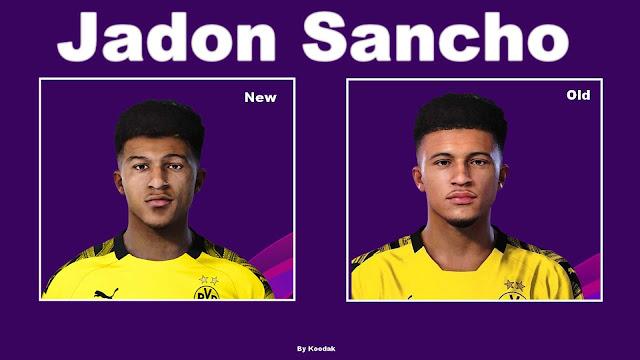 PES 2020 Jadon Sancho Face by koodak