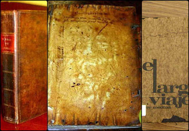 buku ini sepintas terlihat seperti buku biasa yang dibuat seadanya di jaman itu, namun sedikit yang mengetahuai bahwa sampul buku ini terbuat dari kulit manusia.