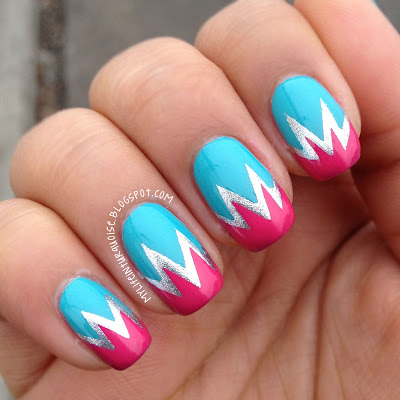 Turquoise-and-Pink-Explosive-Nail-Art