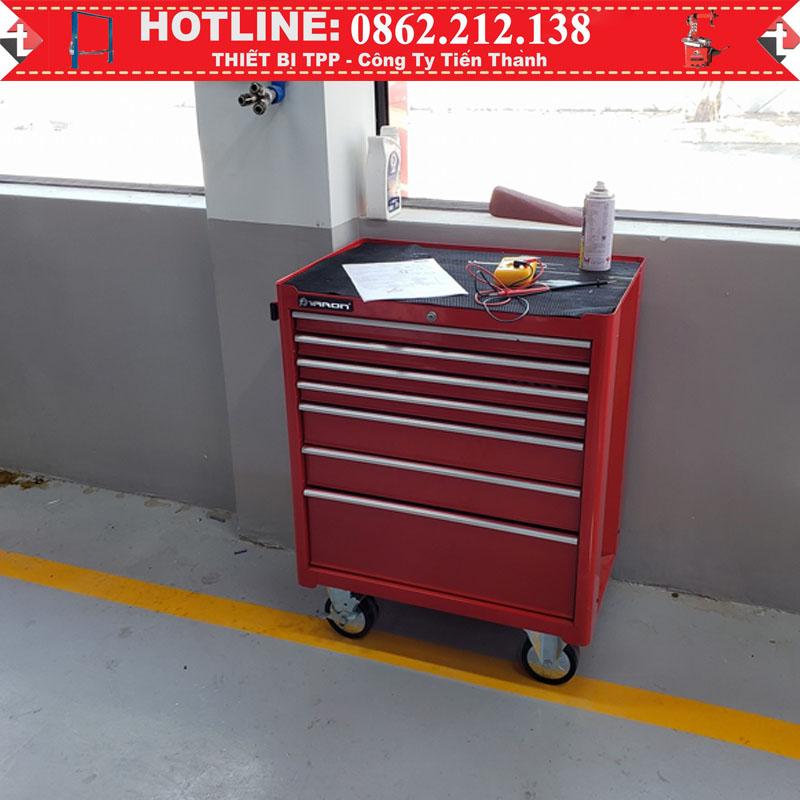 tủ đồ nghề 7 ngăn, tủ đồ nghề gara, tủ đồ nghề sửa chữa xe