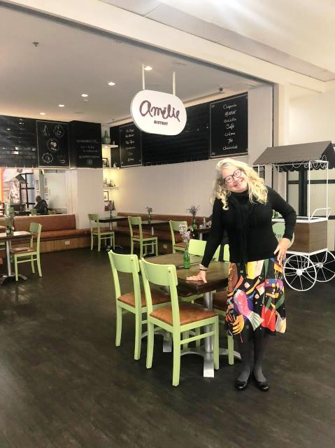 Olivia Garimpando Por Aí no Amélie Crêperie et Bistrot do Botafogo Praia Shopping