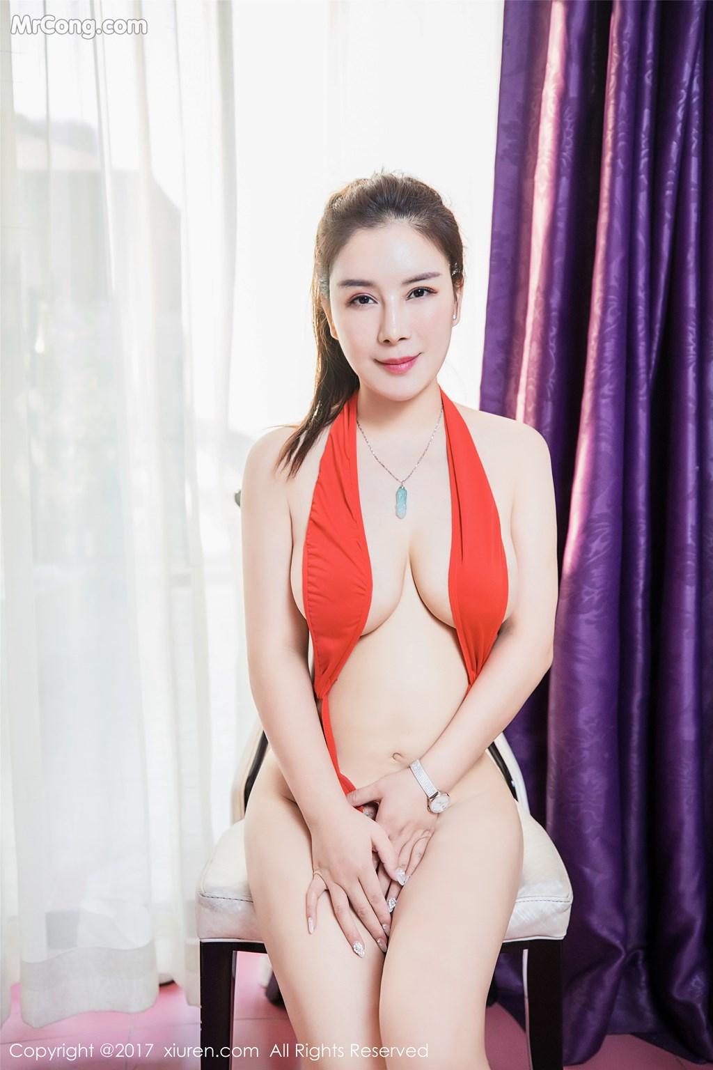 Image XIUREN-No.839-Xue-Qian-Xun-MrCong.com-039 in post XIUREN No.839: Người mẫu Xue Qian Xun (雪千寻) (44 ảnh)