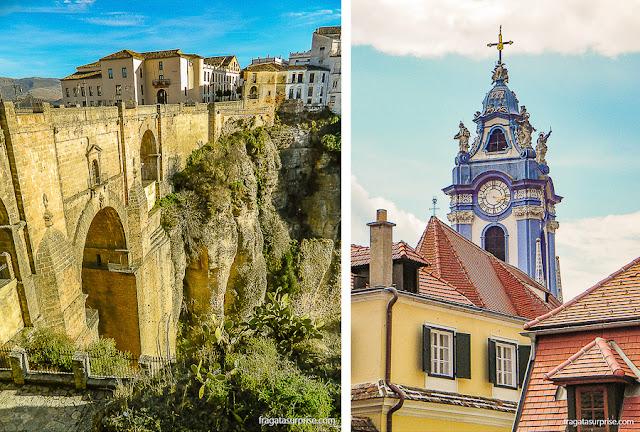 Viagens inspiradas em livros: Ronda, Andaluzia, e Dürnstein, Áustria