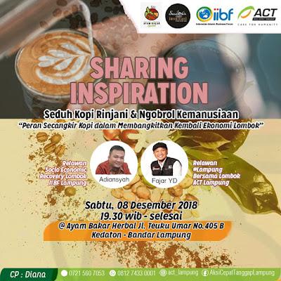 Bangkitkan Ekonomi, ACT - IIBF Gelar Bincang Santai dan Ngopi Rinjani khas Lombok