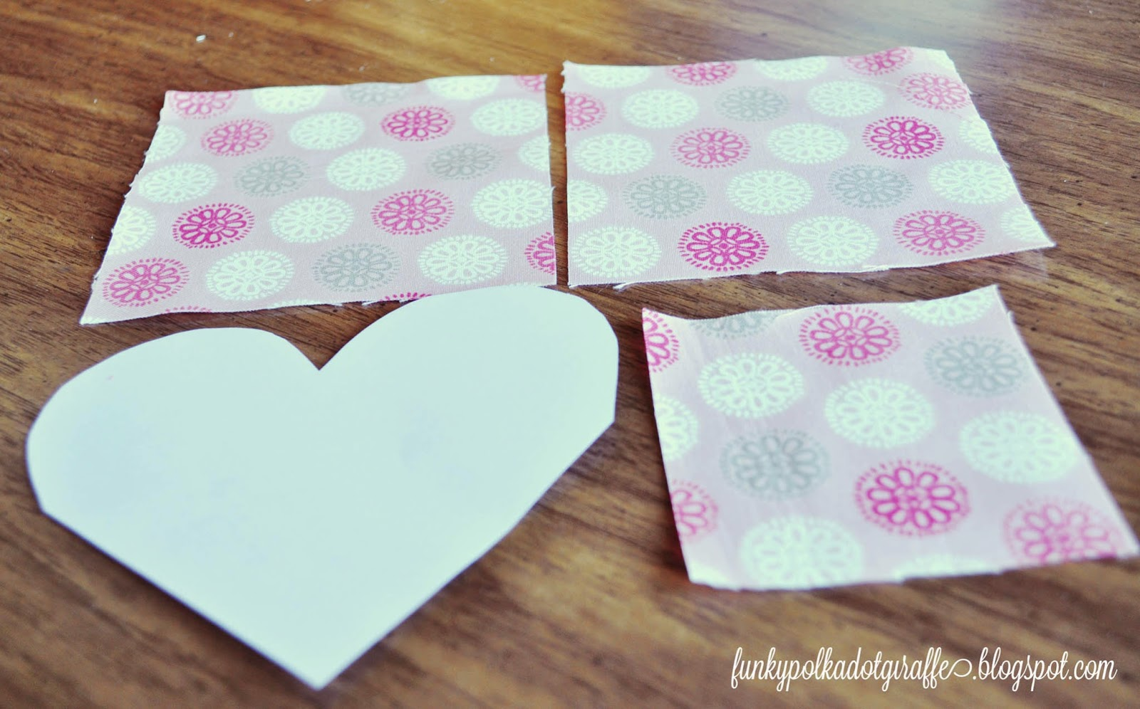 fabric heart bookmark