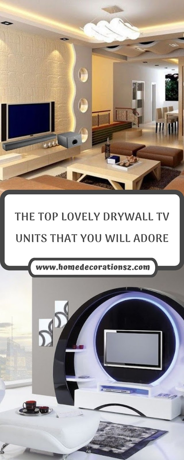 THE TOP LOVELY DRYWALL TV UNITS THAT YOU WILL ADORE