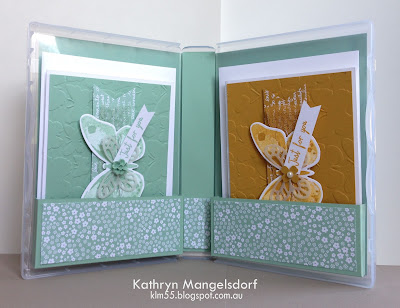 Stampin' Up! Watercolor Wings Gift Case and Matching Cards by Kathryn Mangelsdorf