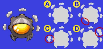 Have you been training your observational skills? Take a close look and choose the silhouette that matches exactly with the monster picture on the left!