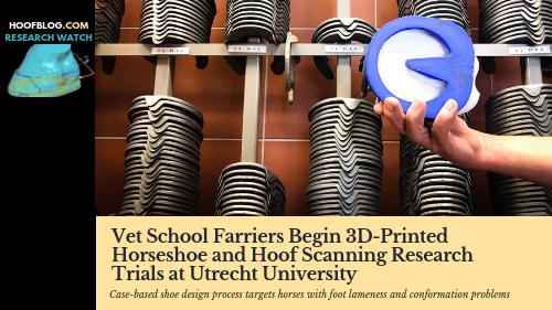 3D printed horseshoe hoof scan research vet school
