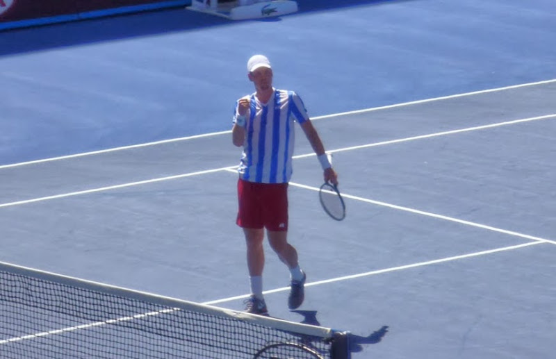 Berdych won the match