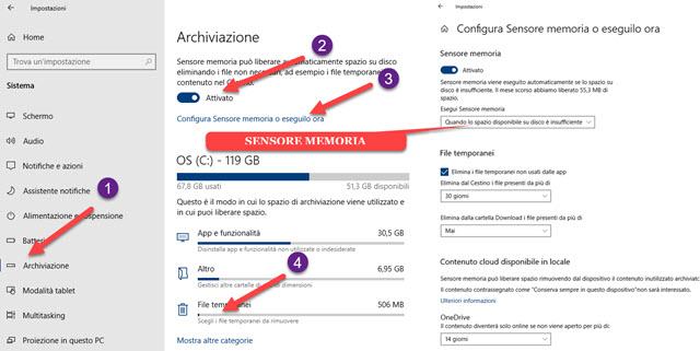 configurazione-sensore-memoria-windows-10