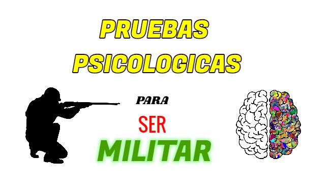 Las pruebas psicológicas para ser soldado del ejercito ecuatoriano es una de las primeras pruebas y la mas importante ya que es aquí donde la mayoría de reclutas obtiene un no apto ya que no se prepararon adecuadamente en las pruebas psicológicas.