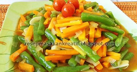 resep tumis buncis wortel segar   resep aneka masakan