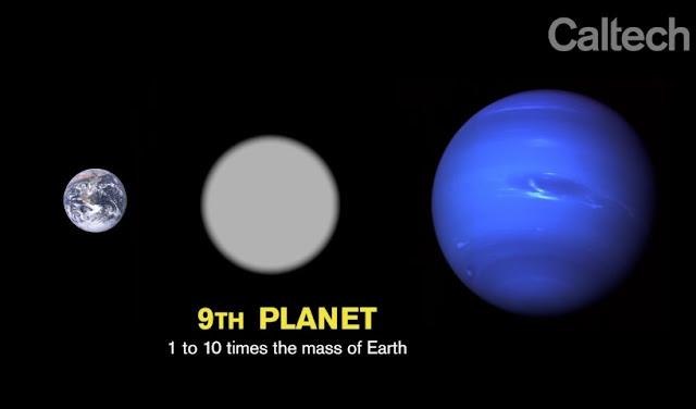 Comparativo de la Tierra y Planeta Nueve