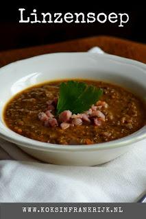 Lekkere winterse soep: linzensoep met wortel en tijm