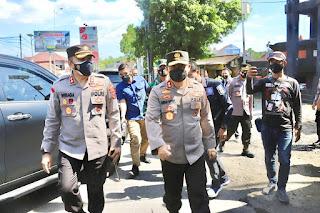 Tinjau PPKM Darurat, Kapolda Jateng Kunjungi Perbatasan Cepu-Jawa Timur