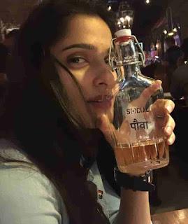 Priya Bapat Drinking