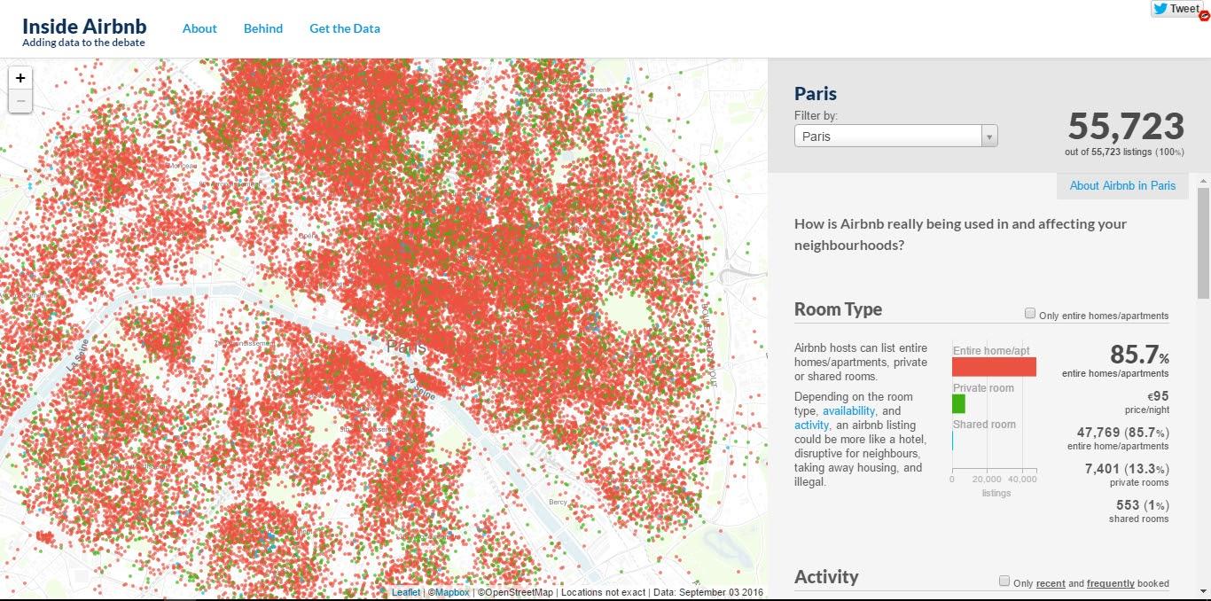 laboratoire urbanisme insurrectionnel: airbnb | nouvel acteur social ?