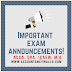 Important Exam Announcement 2020
