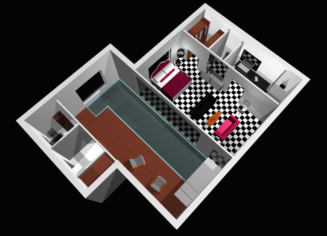 Edbhinteriordesign apartamento para soltero for Diseno de apartamento de soltero