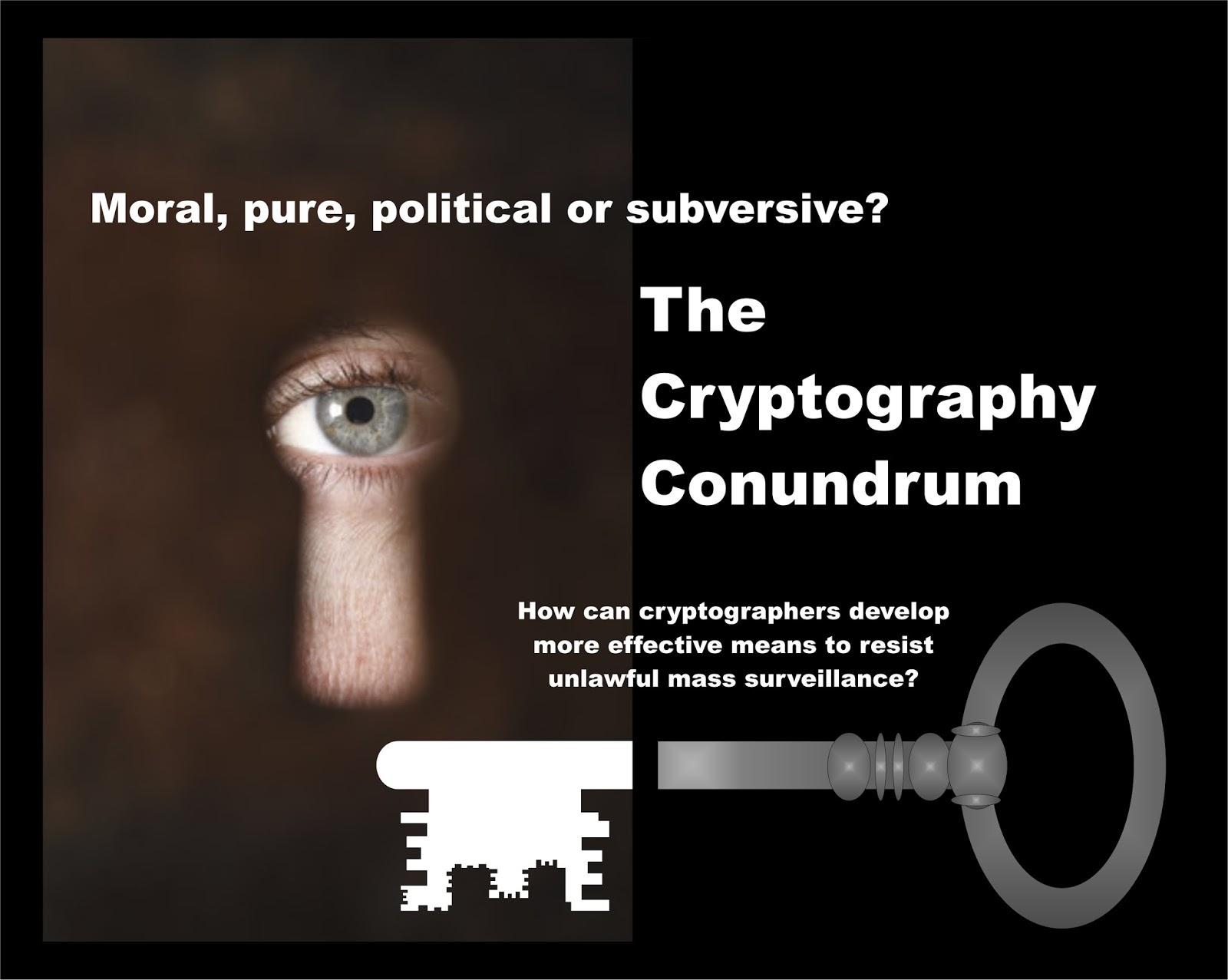 http://alcuinbramerton.blogspot.com/2015/12/the-cryptography-conundrum.html