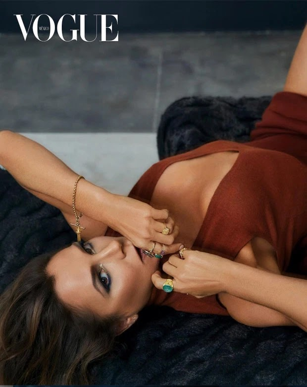 Victoria Beckham in one of the shots from her Vogue Mexico cover